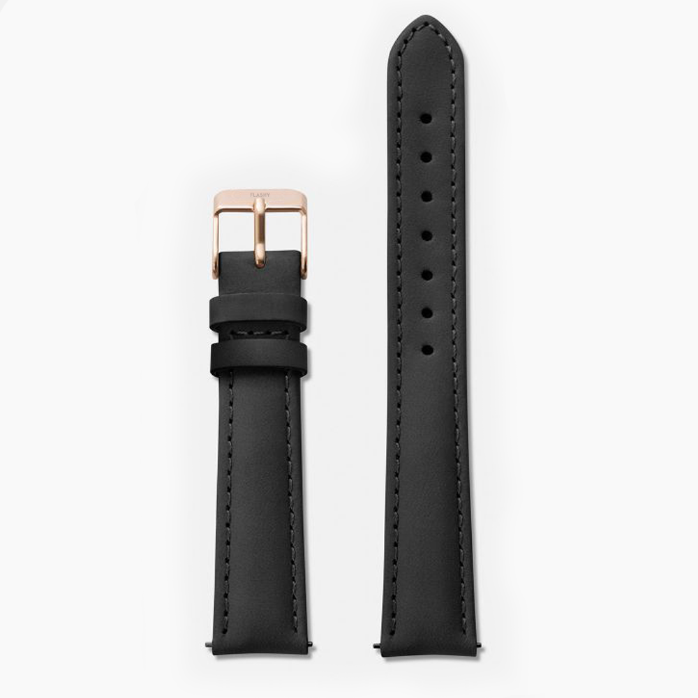 BLACK · LEATHER STRAP
