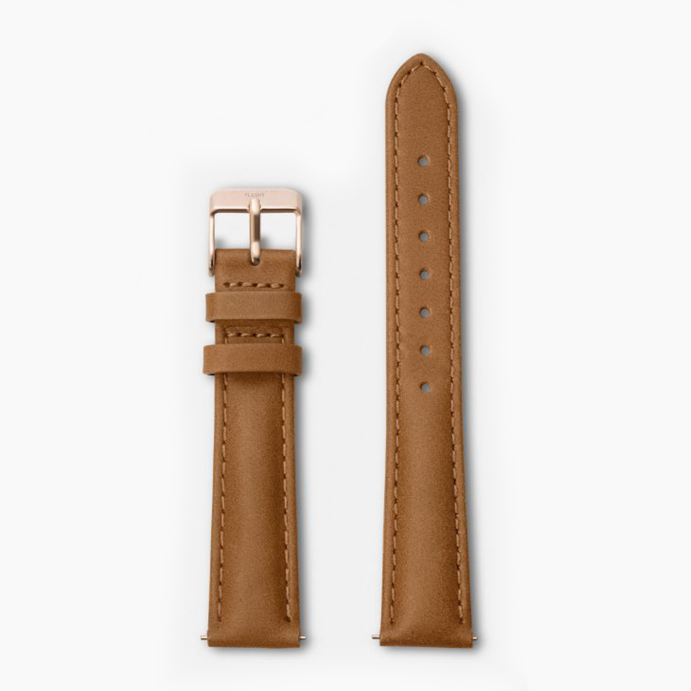BROWN · LEATHER STRAP