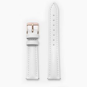 WHITE · LEATHER STRAP