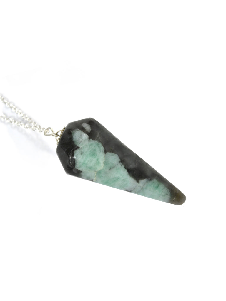 Emerald Pendulum Necklace