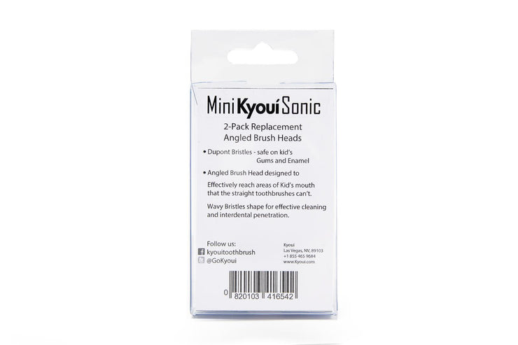 Subscription 10% OFF + Free Shipping Pack of 2 Mini Sonic Replacement Heads for KIDS - Kyoui