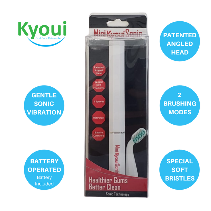 Kyoui Mini Sonic Electric Toothbrush for Kids - White - Kyoui