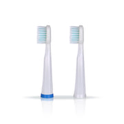 Kyoui Replacement Toothbrush Heads Straight for Kyoui Sonic 3000 Toothbrush System - White (Pack of 2) - Kyoui