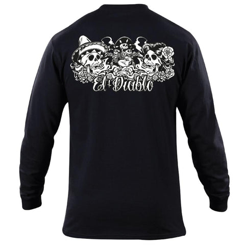 Buy El Diablo Juices Long-Sleeve Bones T-Shirt, At El Diablo Juices