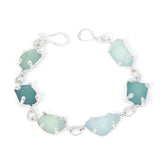 sea of blues sea glass bracelet - tossed & found jewelry
