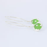 a touch of color sea glass earrings