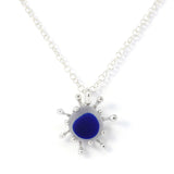 Seaham sunburst sea glass necklace