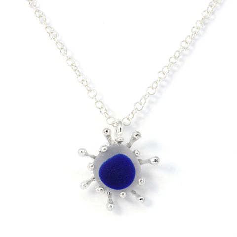Seaham sunburst sea glass necklace - tossed & found jewelry