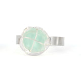 sea glass organic cup ring (multiple sizes/colors) - tossed & found jewelry