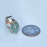 ocean wave genuine turquoise sea glass ring