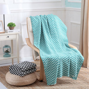 Plaid Knitted Blanket