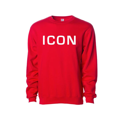 Limited Edition Red ICON Crewneck Sweatshirt