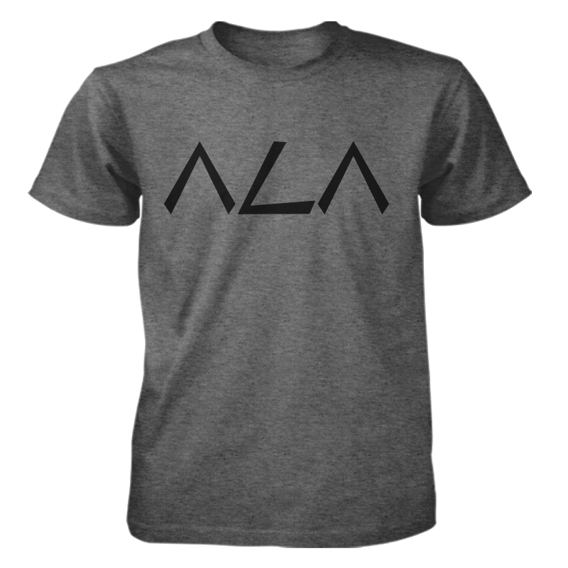 ΛLΛ Men's T-Shirt Charcoal Grey/Black