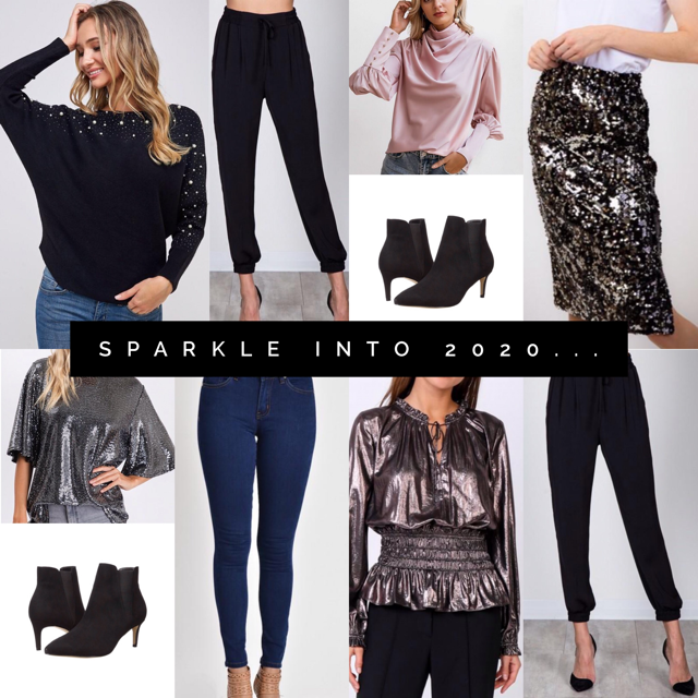SPARKLE INTO THE NEXT DECADE!  WEARABLE EFFORTLESS PARTY OUTFITS YOU'LL LOVE!