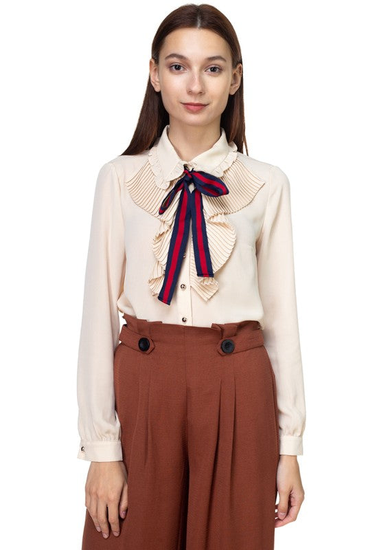 THE ANIKA BOW DETAIL BLOUSE