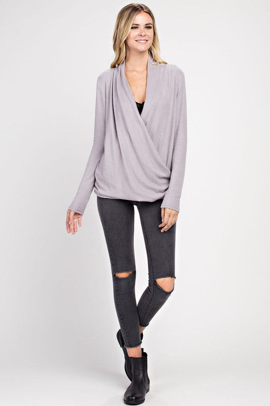 THE COZY ME WRAP TOP