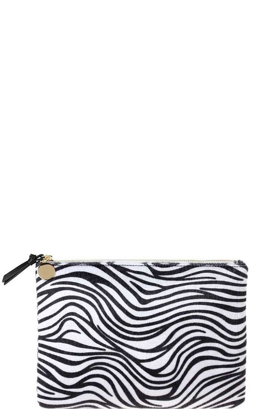 THE FAUX SURE CLUTCH - ZEBRA