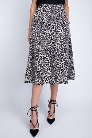 THE ENCHANTRESS LEOPARD MIDI SKIRT