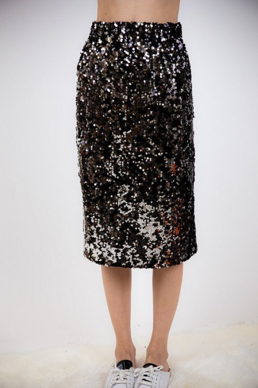THE TWINKLE TWINKLE SEQUIN MIDI SKIRT