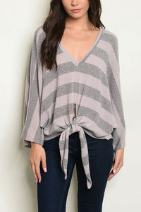 THE HOME WORKER ESSENTIAL STRIPE TOP