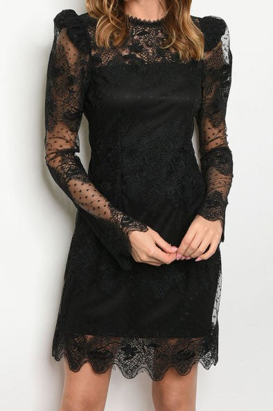 THE GLAD TIDINGS LACE DRESS
