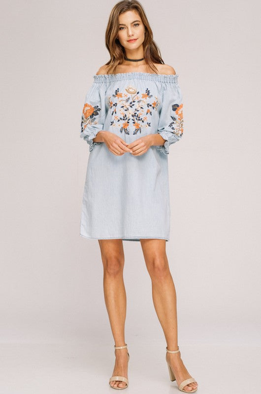 THE DANI EMBROIDERED DRESS