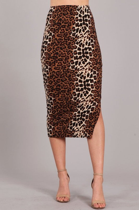 THE LEOPARD PRINT IS THE NEW BLACK MIDI SKIRT