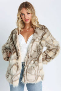 THE ARCTIC FOX FAUX FUR JACKET - ONLINE EXCLUSIVE