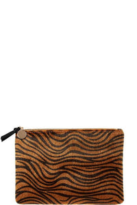 THE FAUX SURE CLUTCH - TIGER