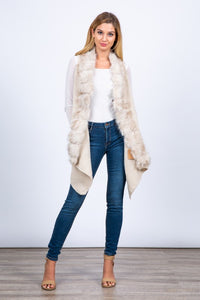 THE ADORE ME FAUX FUR KNIT VEST