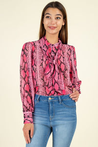 THE COBRA NECK TIE BLOUSE