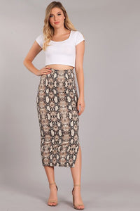 THE SNAKE PRINT IS THE NEW BLACK MIDI SKIRT