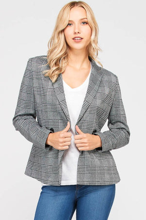 THE EDITION MONOCHROME PLAID JACKET