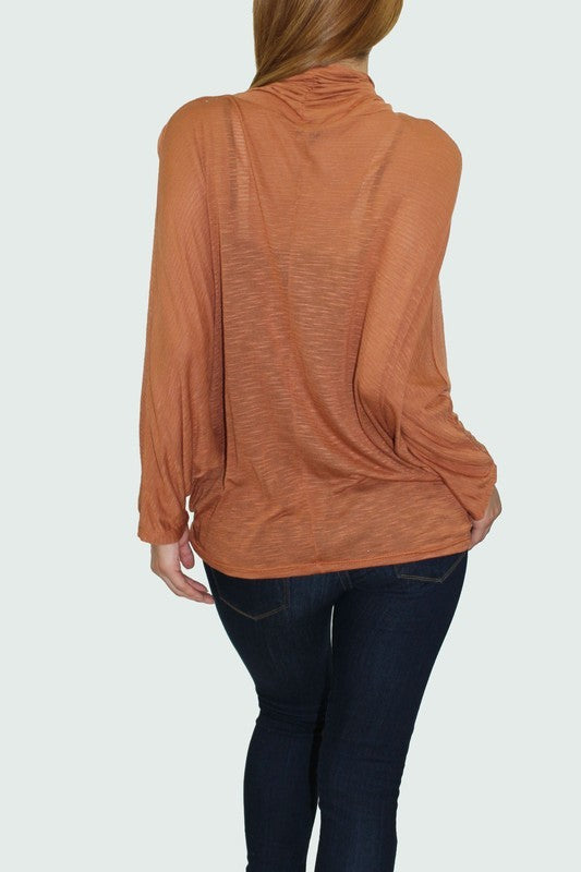 THE ISSEY LIGHTWEIGHT DRAPED TOP