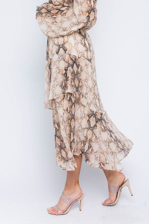 THE DARE TO WEAR SNAKE PRINT SKIRT