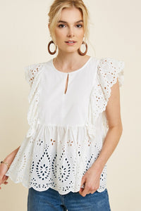 THE TIDEPOOL EYELET TOP