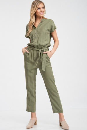 THE NEVER BETTER JUMPSUIT - OLIVE