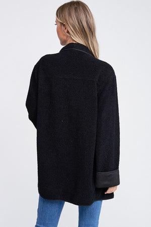 THE ISIA TEDDY WRAP JACKET - BLACK