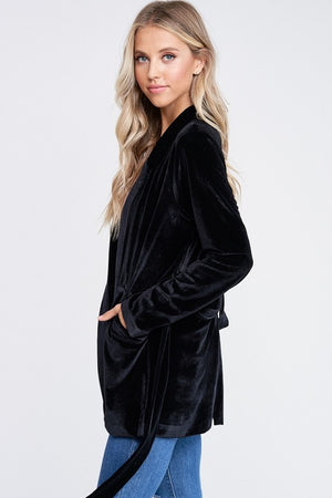 THE JAYNA VELVET BLAZER - BLACK - ONLINE EXCLUSIVE!