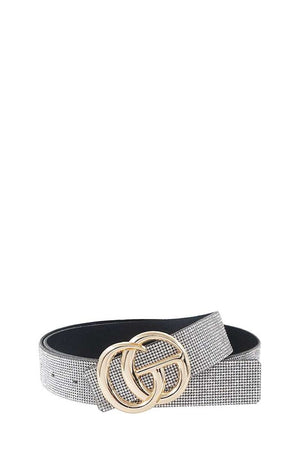 THE LUXURIOUS DOUBLE BUCKLE GLITZY BELT