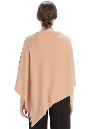 THE CASHMERE MIX ESSENTIAL PONCHO - OLIVE