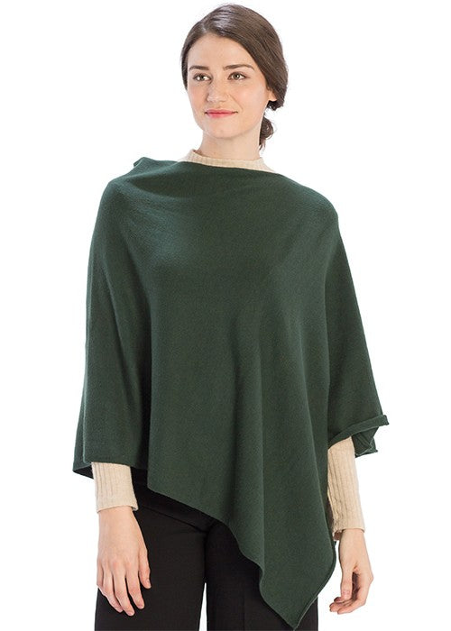 THE CASHMERE MIX ESSENTIAL PONCHO - RED