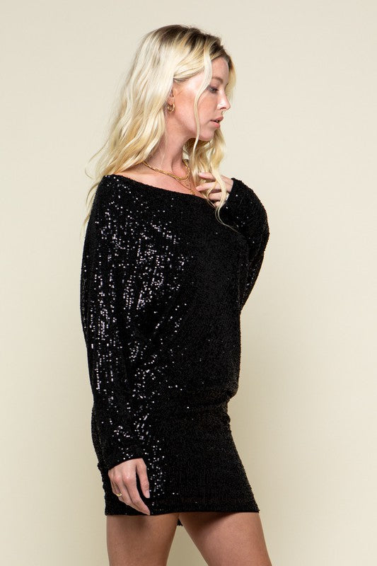 THE ALL I WANT IS YOU SEQUIN DRESS