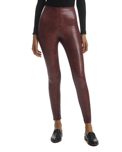 COMMANDO brand FAUX LEATHER ANIMAL LEGGINGS with Perfect Control - BROWN CROC