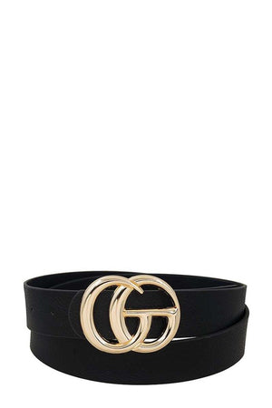 THE LUXURIOUS DOUBLE BUCKLE BLACK BELT