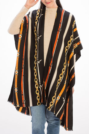 THE UNBRIDLED CHAIN PRINT KIMONO - TAUPE