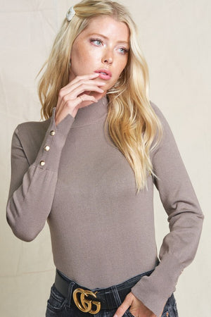 THE BRIELLE LONG-SLEEVE BASIC KNIT - IVORY