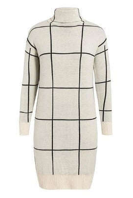THE CHECKERS SWEATER DRESS