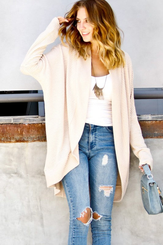 THE ESSENTIAL DRAPED LAYERING CARDI