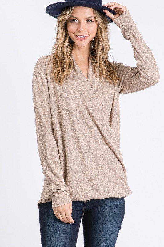 THE WELLNESS ESSENTIAL WRAP TOP